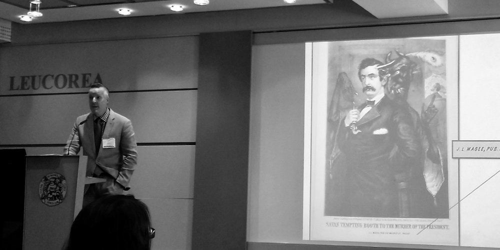 Paul Menzer discusses a 19th century image of the devil tempting John Wilkes Booth.