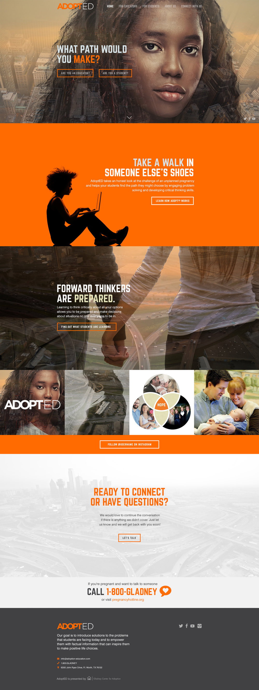 AdoptED - Website • 2015