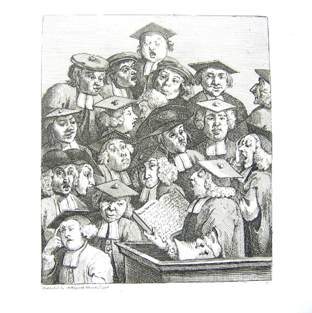 Scholars at a Lecture , William Hogarth, 1736