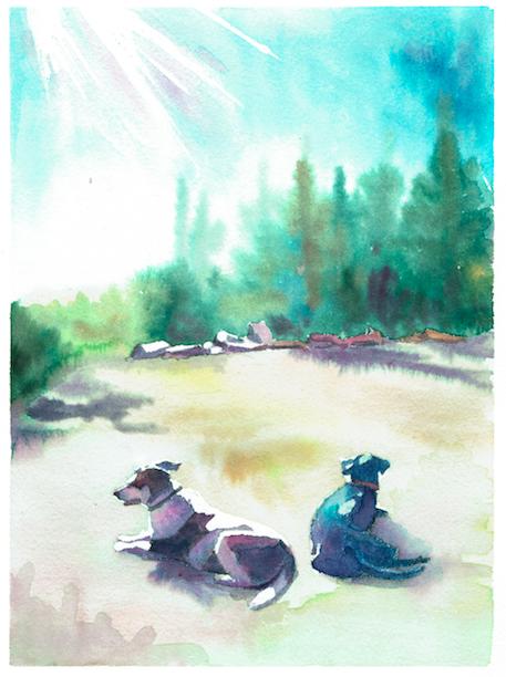 """7""""x9"""" watercolor"""