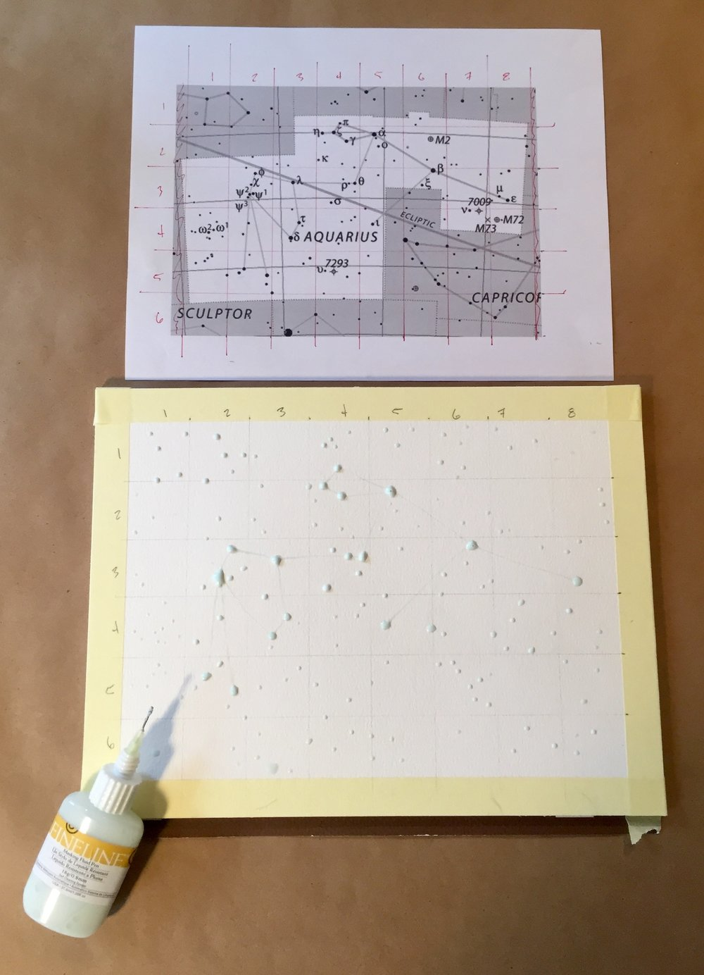 Masking fluid step two