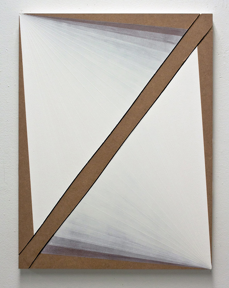 Untitled  Gesso on masonite  24 x 18 inches  2011