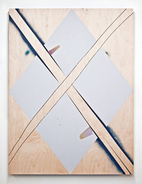 Untitled  Acrylic, spray paint on panel  64 x 48 in  2013