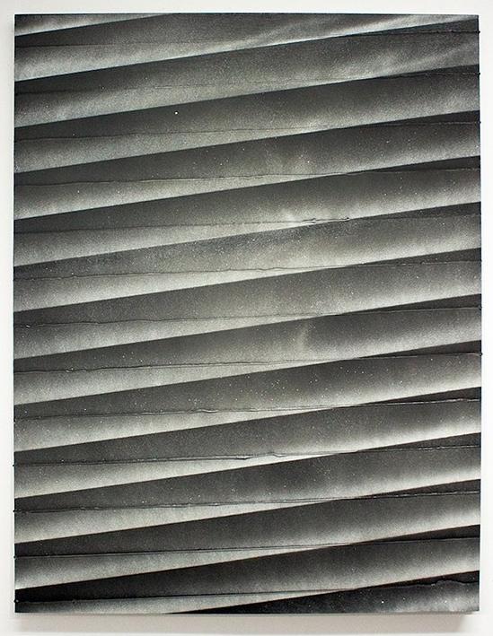 Untitled  Enamel, spray paint, silicon caulk on canvas  65 x 50 in  2011