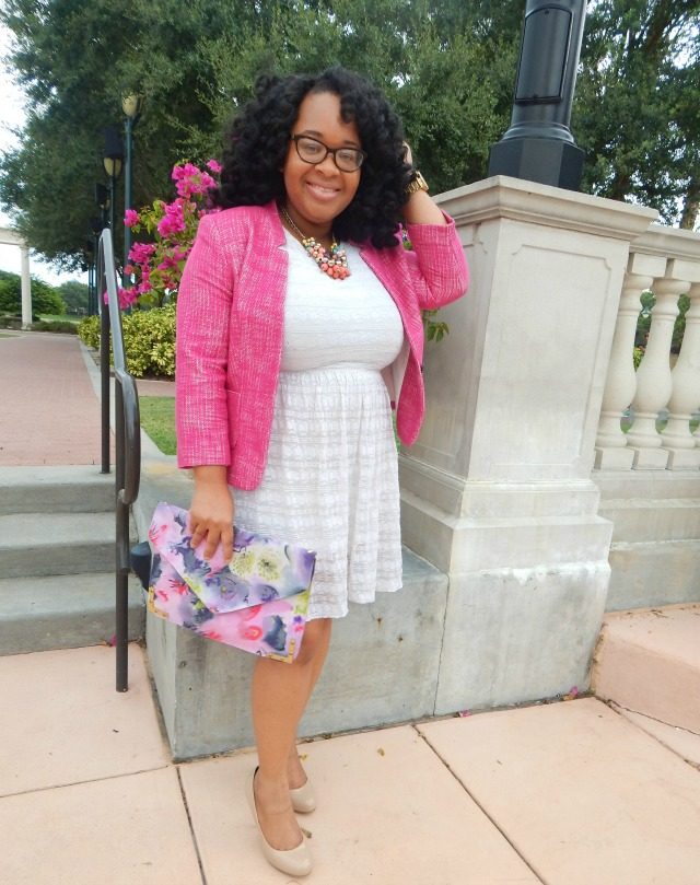 Classic Gal: Tweed Jacket and Lace Dress