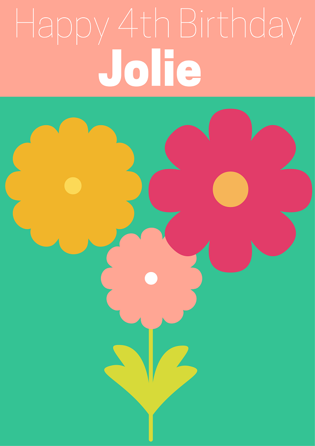 Happy 4th Birthday Jolie