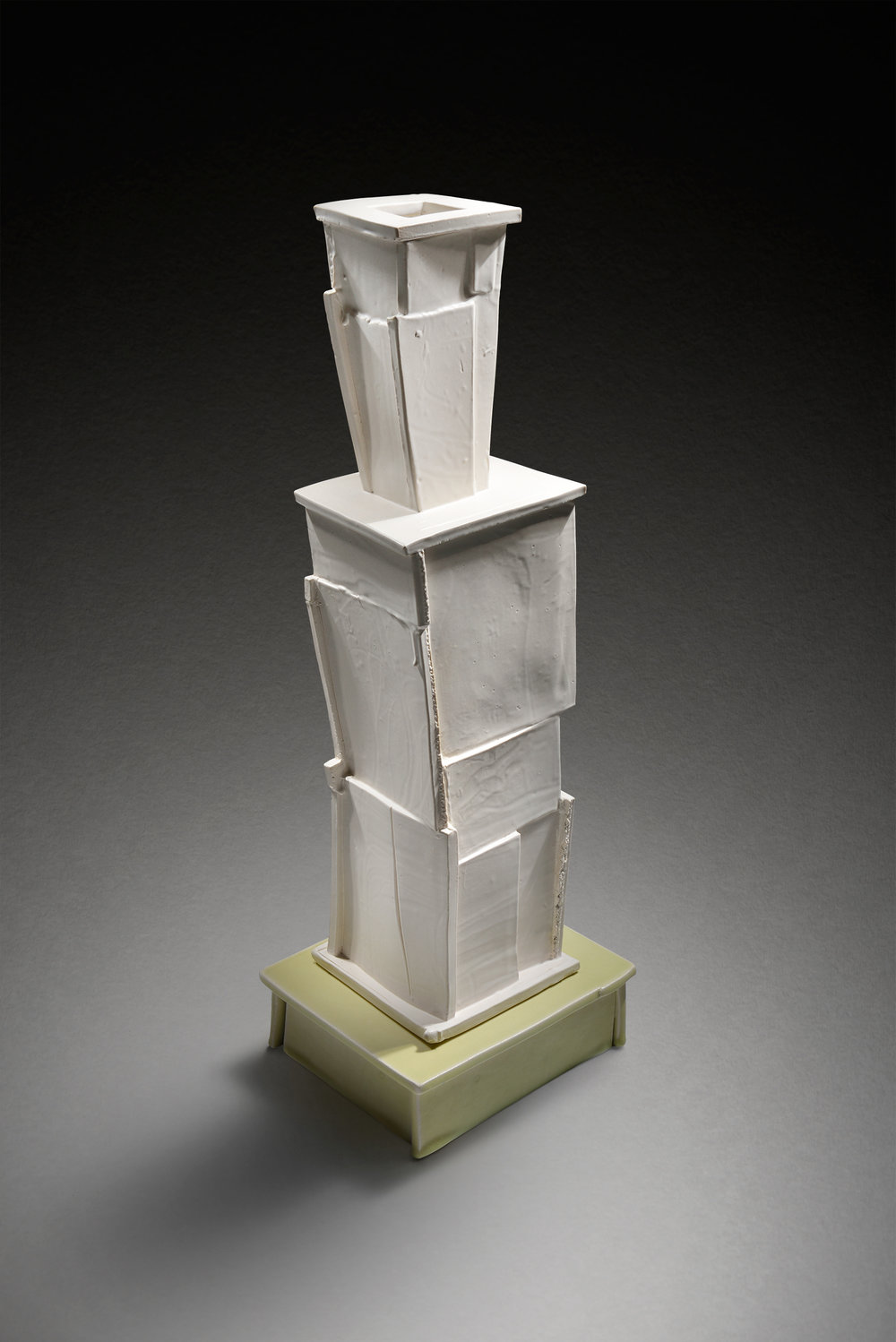 White Vase on Base