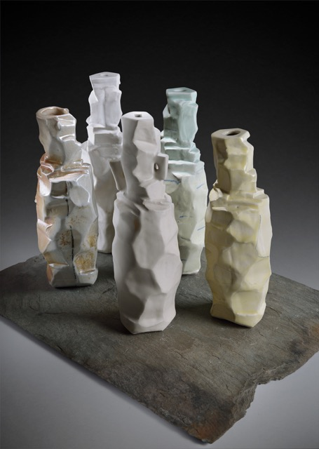 Five Bottle Vases