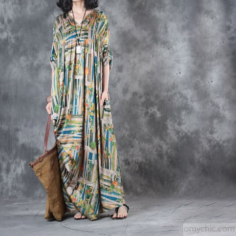 2017_rainbow_baggy_silk_dresses_plus_size_draping_sundress_v_neck_vintage_maxi_dress3_2.jpg