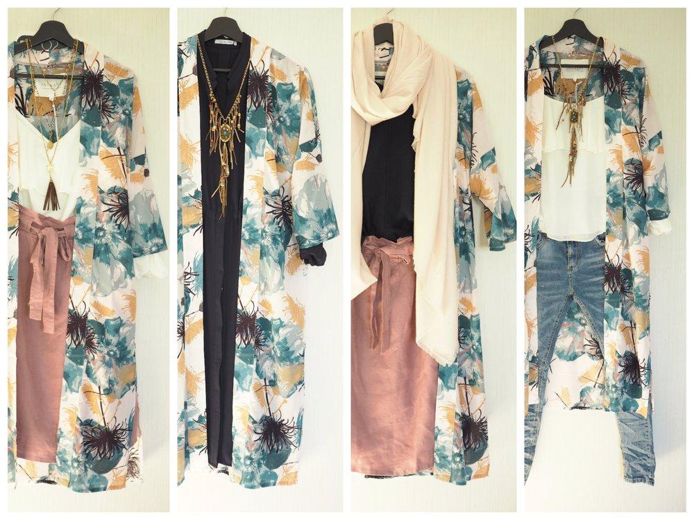 Neljä tapaa stailata Thoughtin kimono