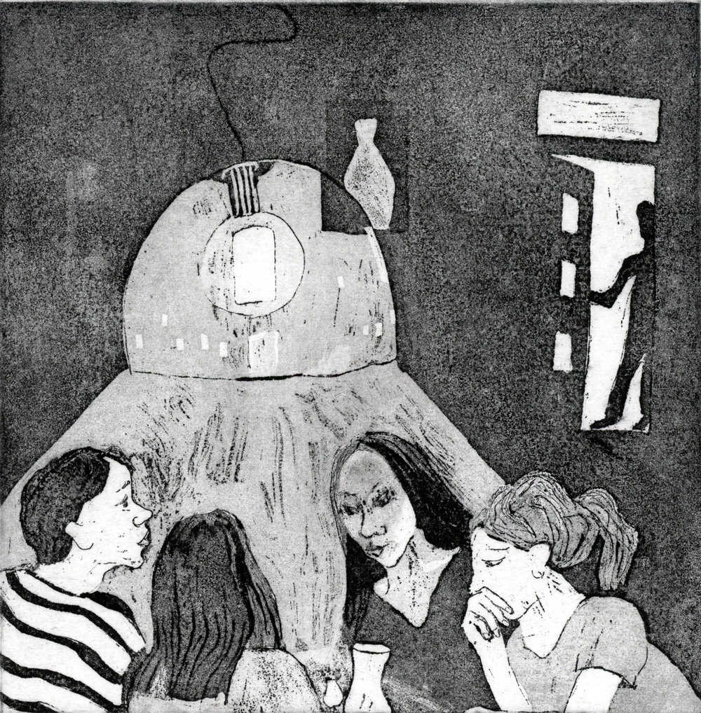 A Dinner Party   Etching, Edition of 5