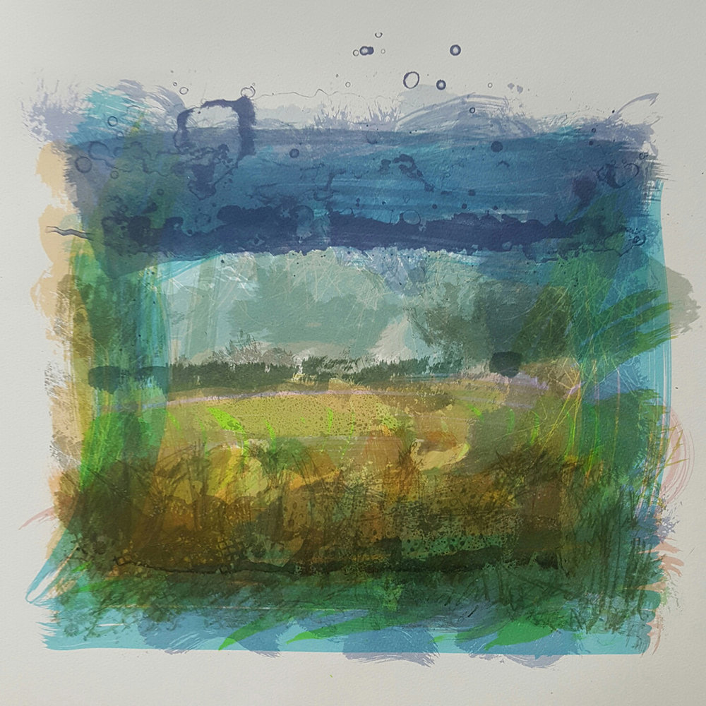 Essex Landscape #2 Screenprint monoprint