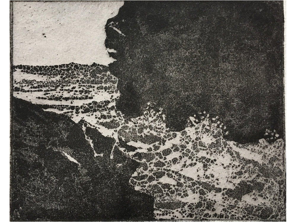 Sugar lift Etching with Aquatint   'Tidal'