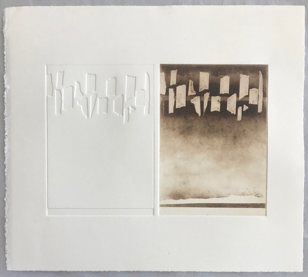 Traces   Photopolymer etching & emboss