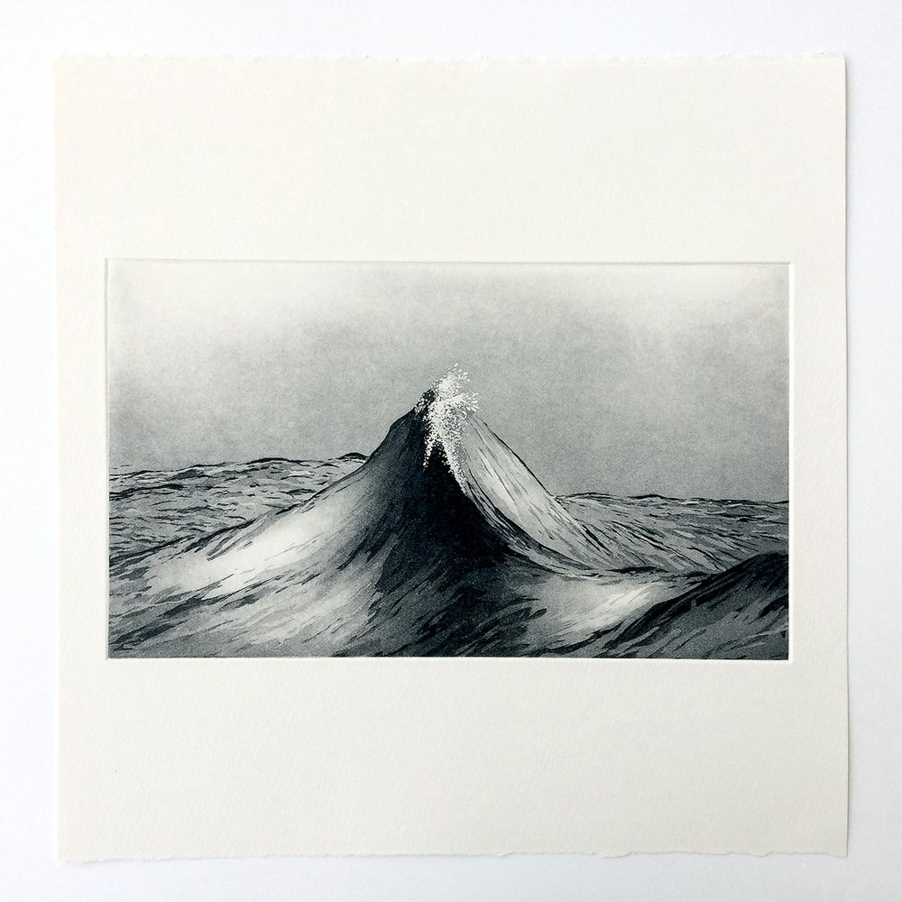 Sublime Peaks   Etching