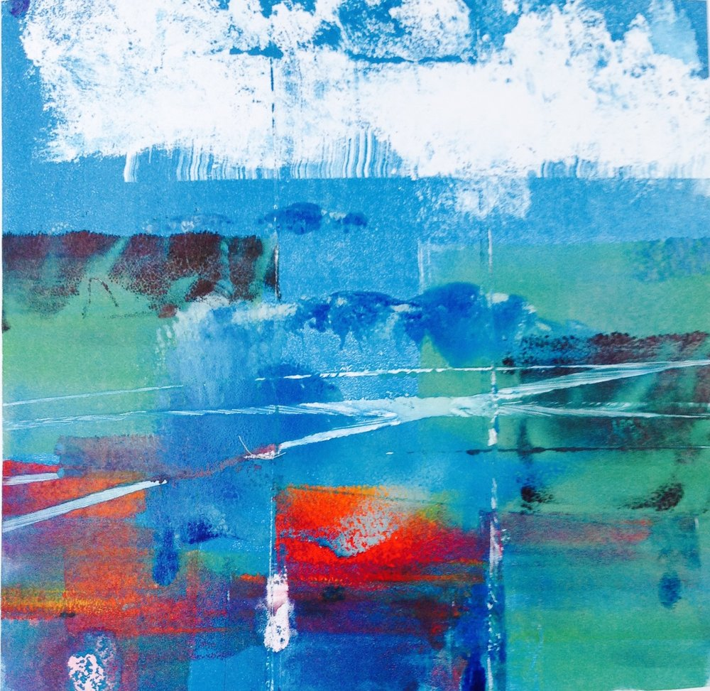 Urban Waters  Monoprint