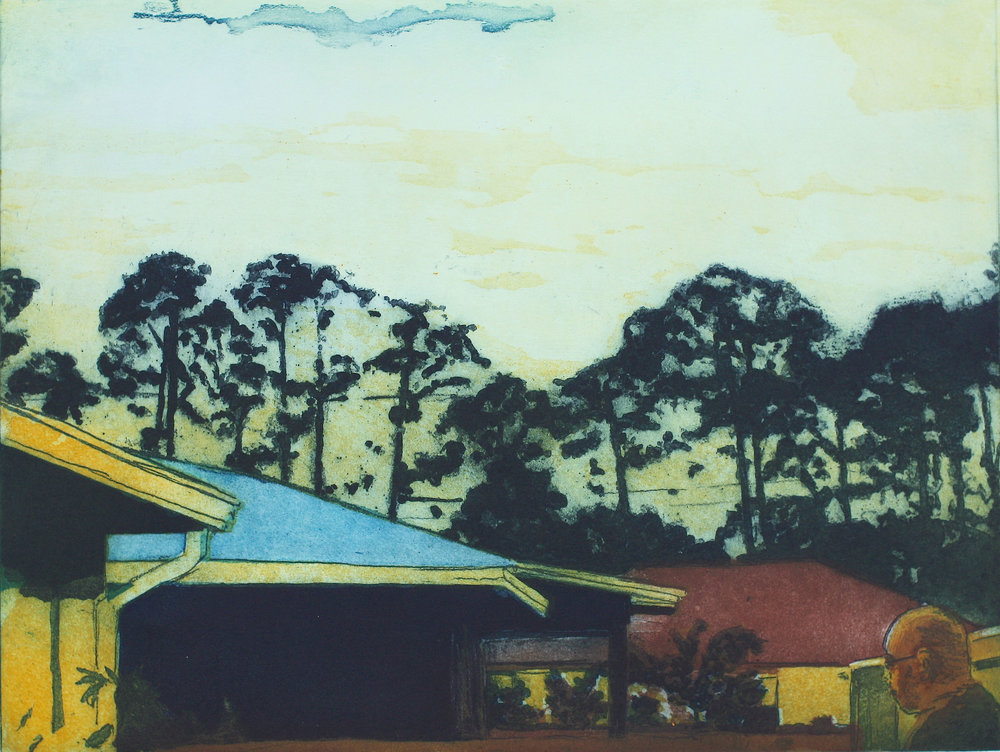 Trumpet Street   3 Plate Colour Etching