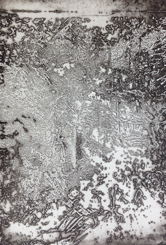 Molten Disintegration 1   Lasercut etching