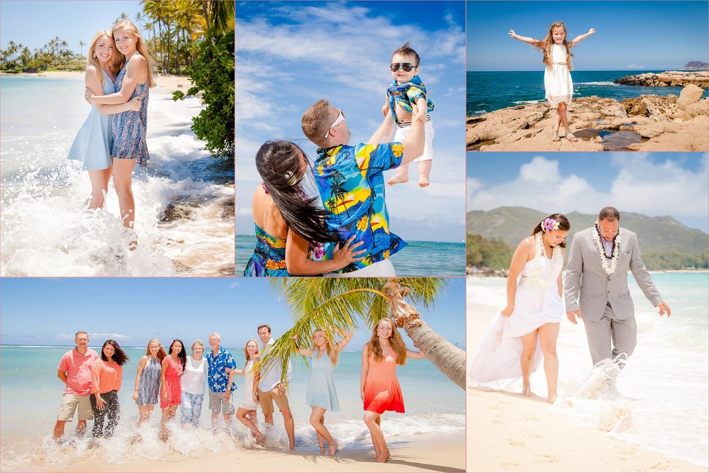 oahu beach portraits collage