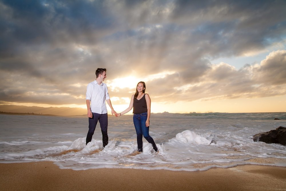 oahu north shore wedding proposal surprise photographer