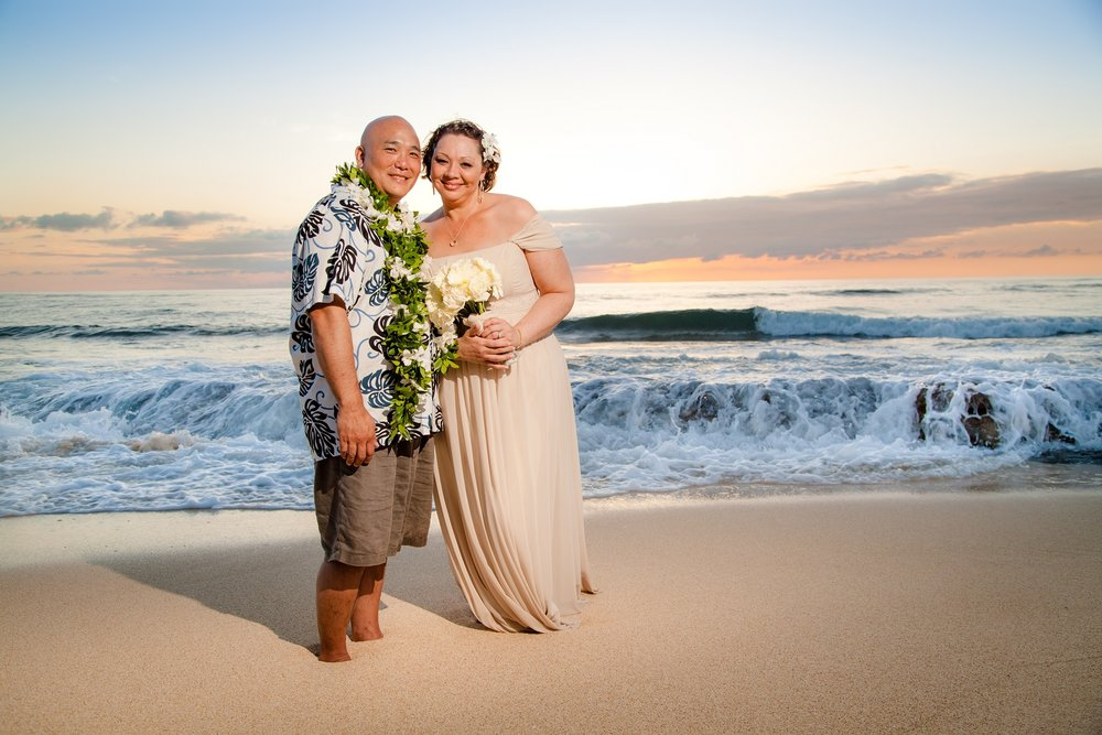oahu north shore vow renewal anniversary beach portraits
