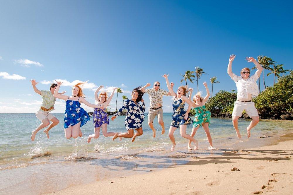 family beach photo oahu hawaii
