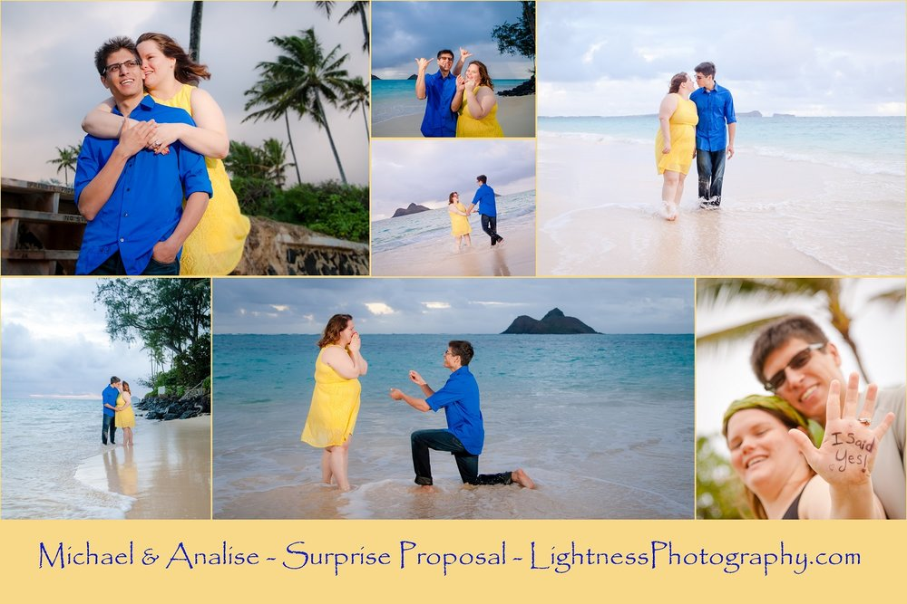 romantic couples portrait sunrise beach oahu