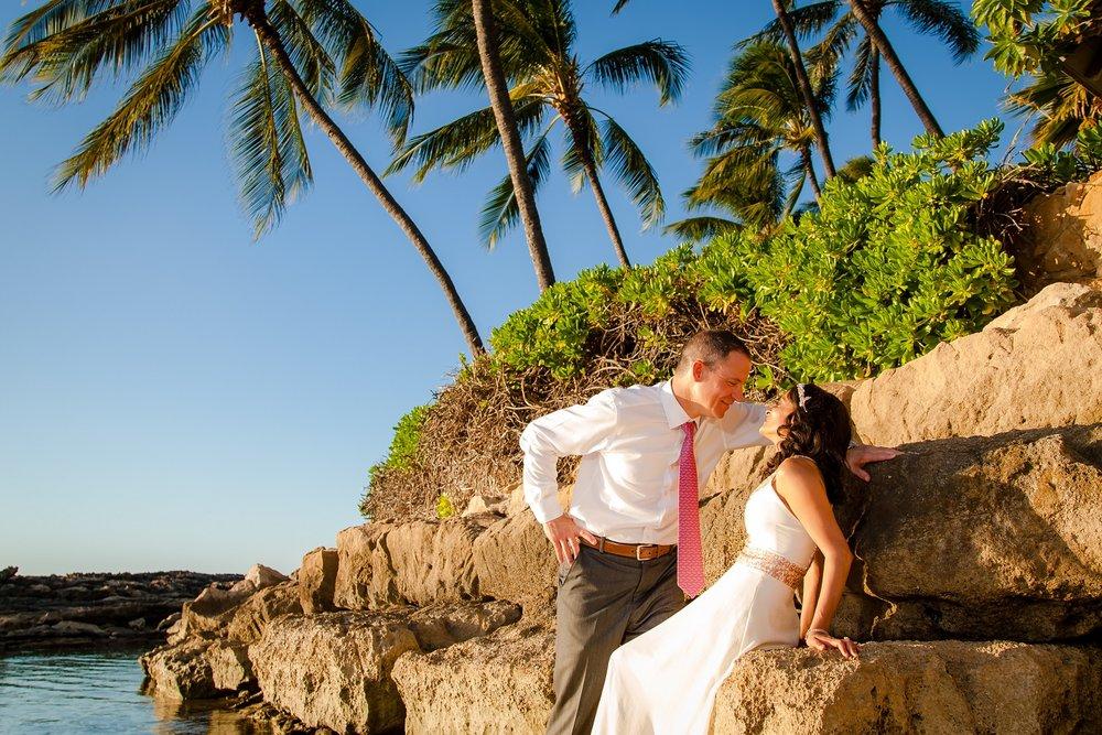 sunny beach wedding oahu hawaii