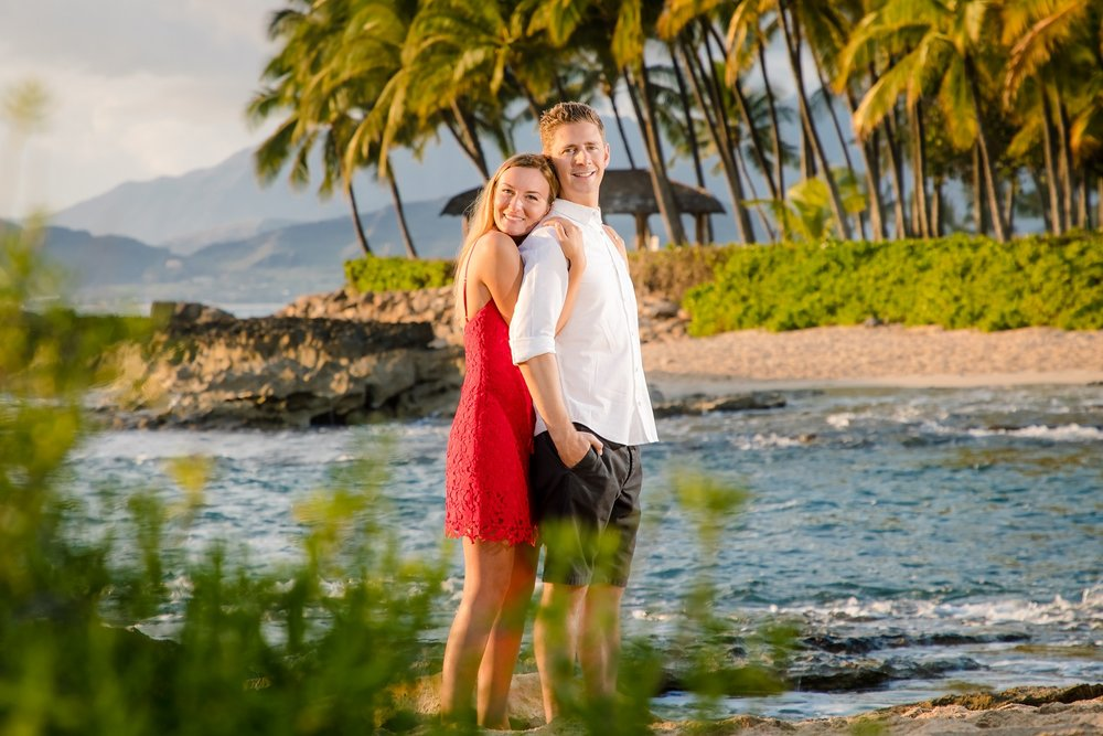 Romance blossoms at Secret Cove in Ko Olina at the Four Season's Resort Oahu