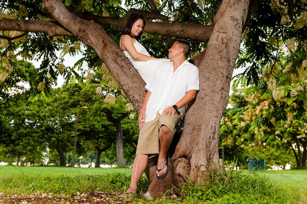 wedding engagement photographer oahu hawaii