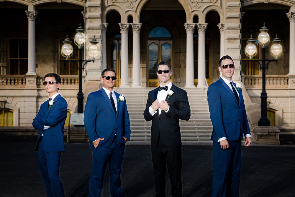 groomsmens wedding ceremony portraits oahu hawaii