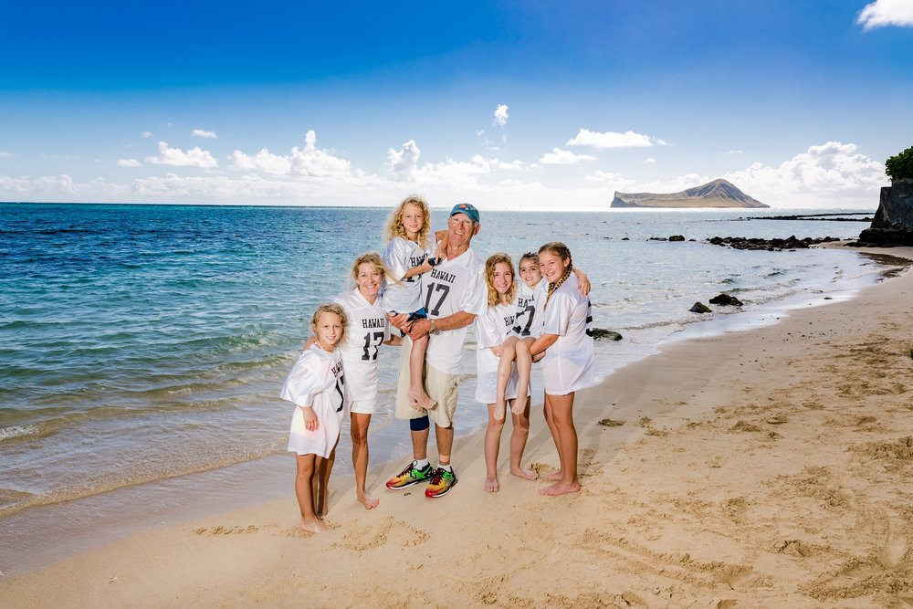 kids & grandparents family photo shoot waimanalo oahu
