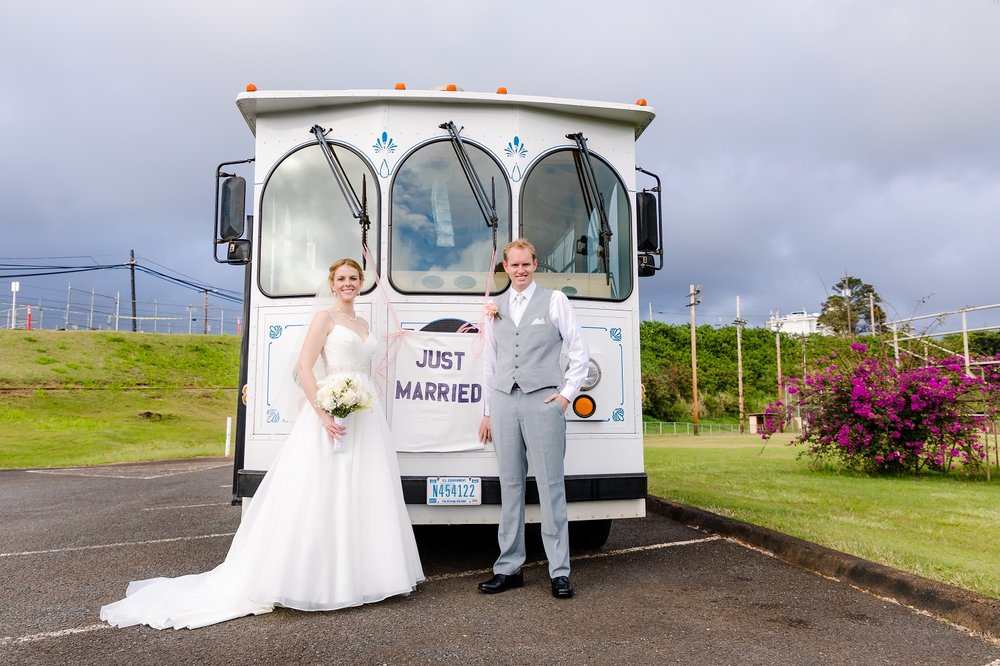 wedding bus bridal party honolulu