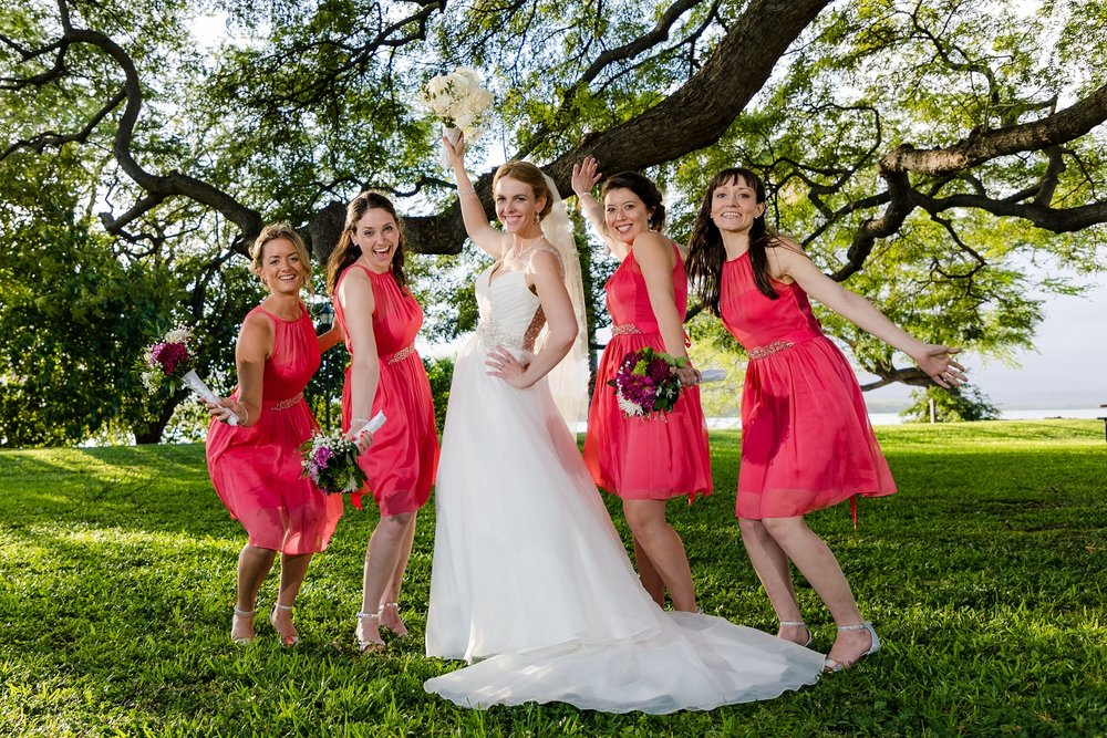 bridesmaid portrait honolulu waikiki hawaii