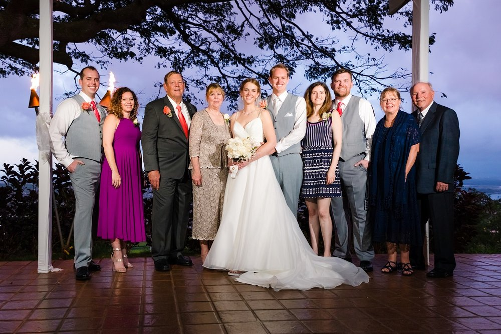 family wedding portrait destination wedding hawaii