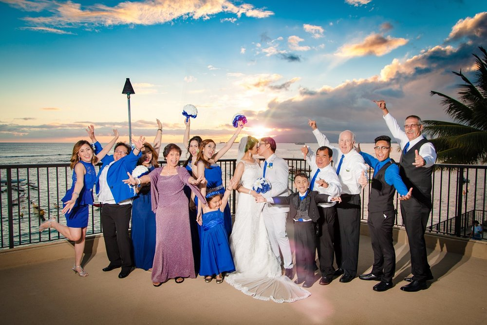 wedding party celebration photos