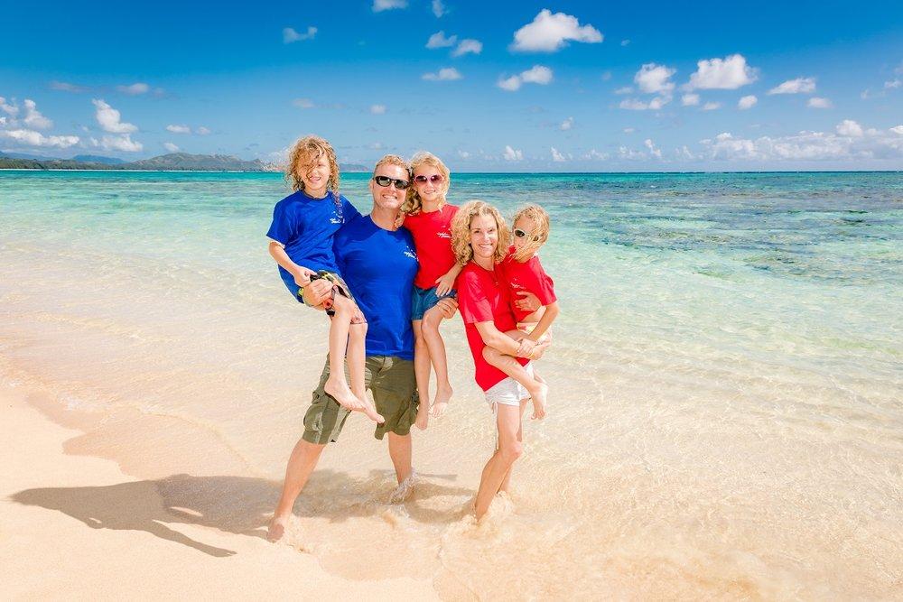 family beach vacation photography