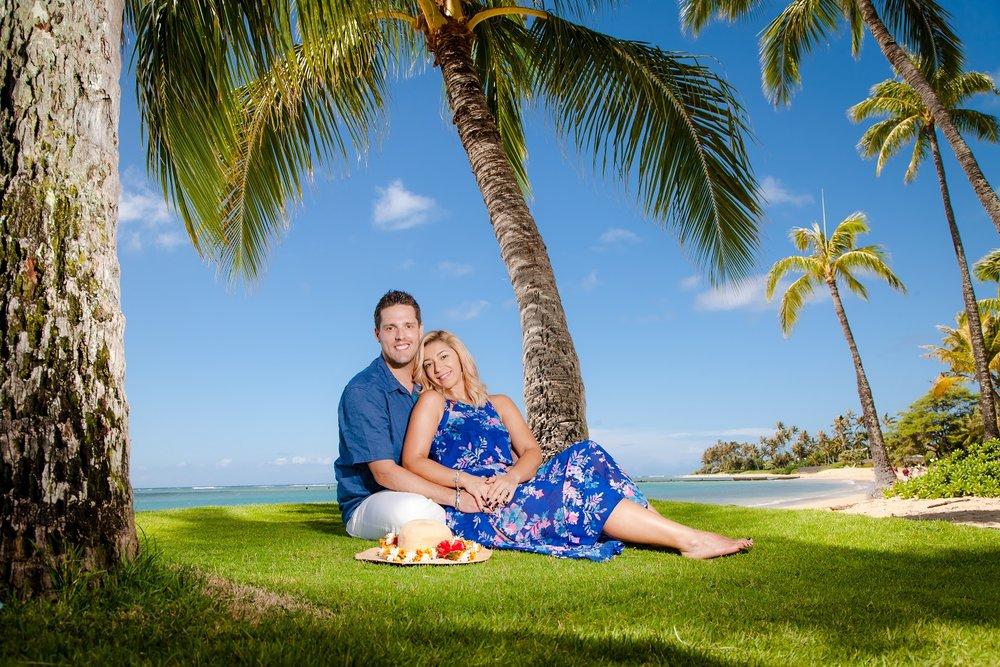 hawaii couples proposal engagement photo shoot
