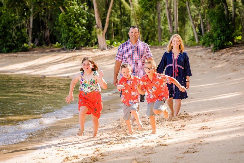 north shore oahu family beach portrait