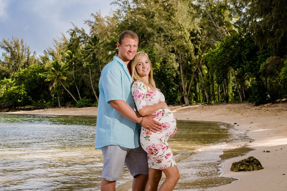 maternity portrait turtle bay resort oahu