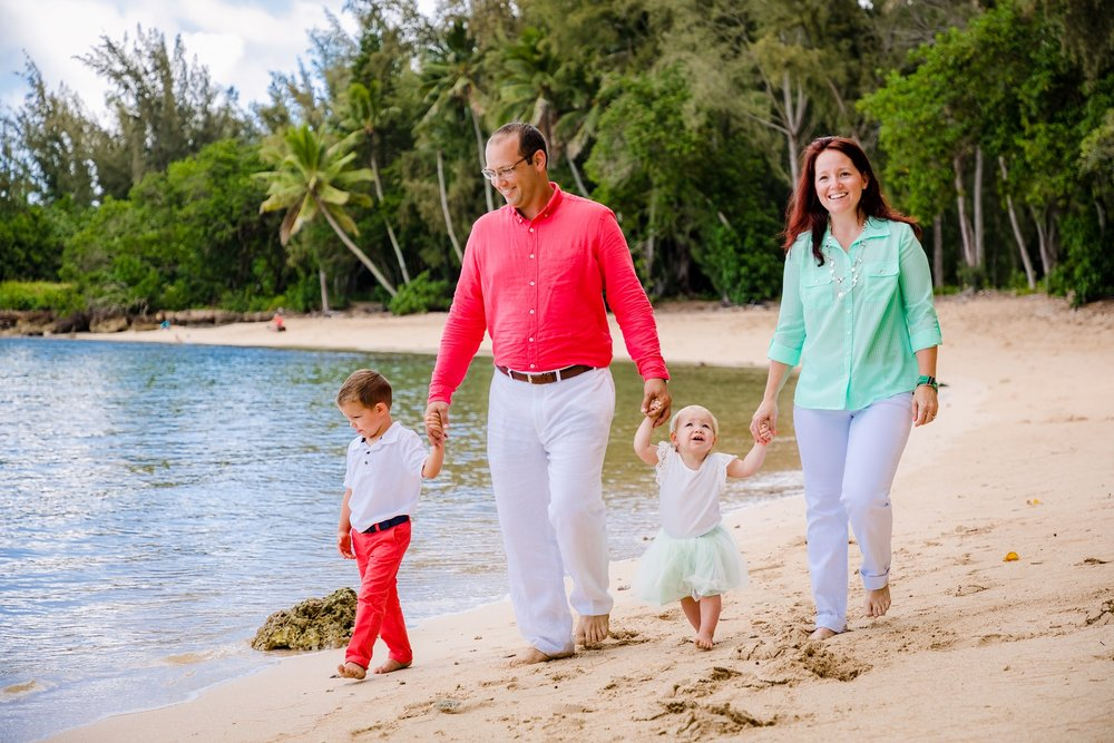 family beach photography session oahu north shore