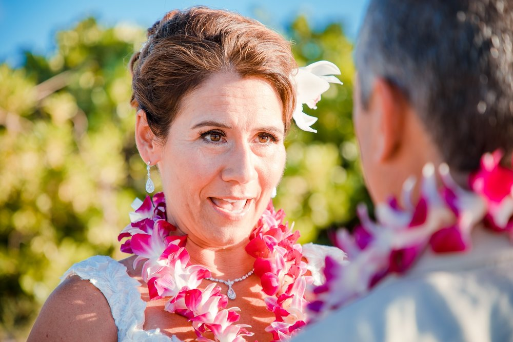 bride in wedding ceremony oahu hawaii