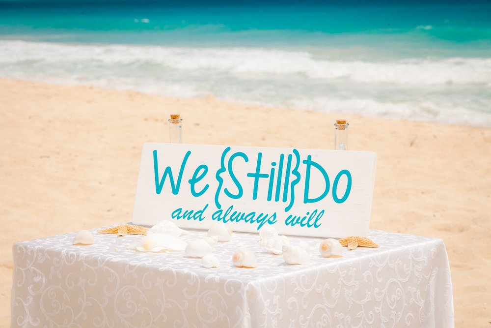 Vow renewal ceremony at Waimanalo Beach