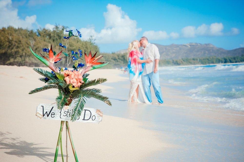 Vow renewal, Waimanalo Beach, Oahu