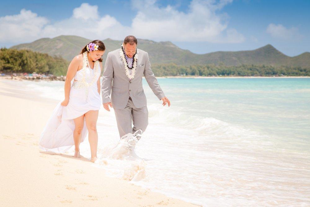 White sands of Waimanalo Beach