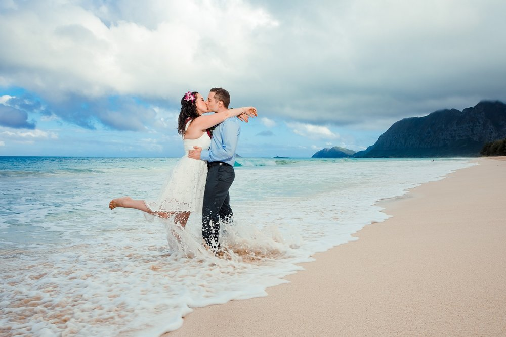 ...only to clear up in 20 minutes to get more spectacular wedding portraits!
