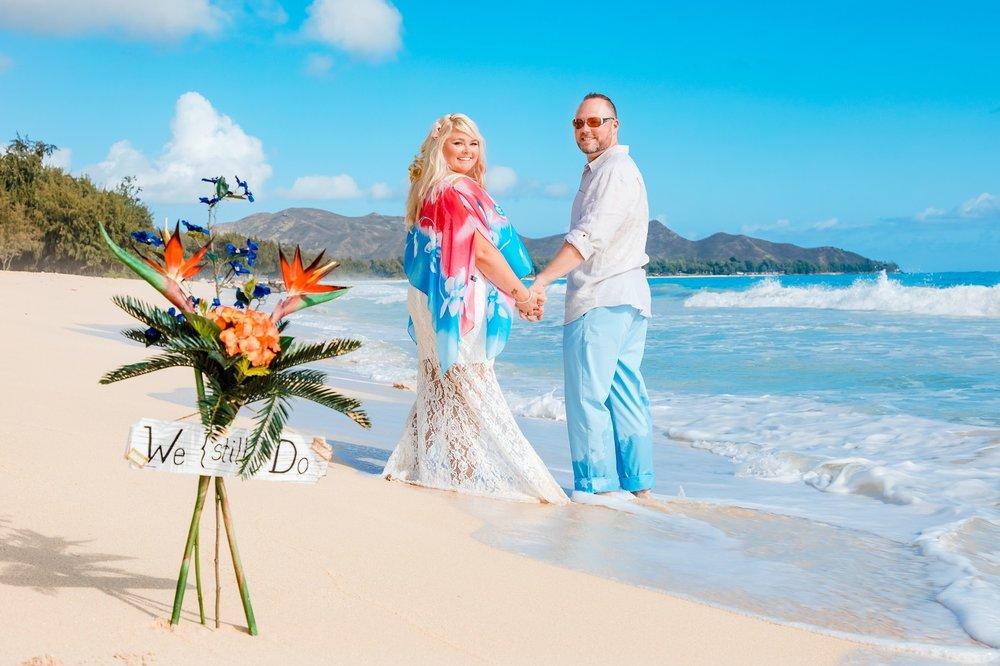 vow renewal elopement portrait oahu hawaii beach