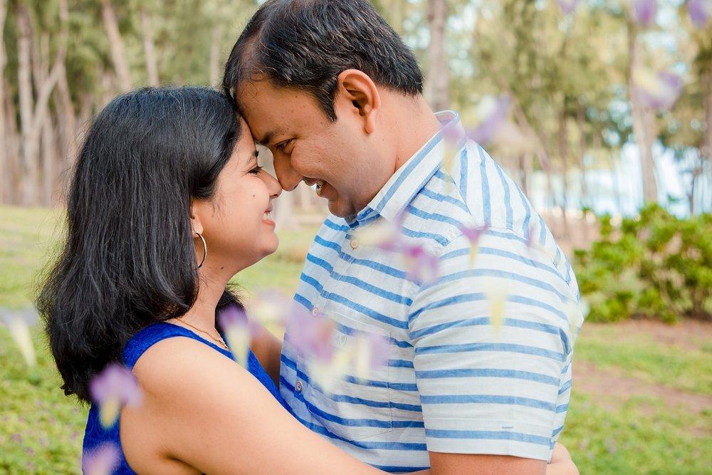 couples engagement portrait oahu hawaii