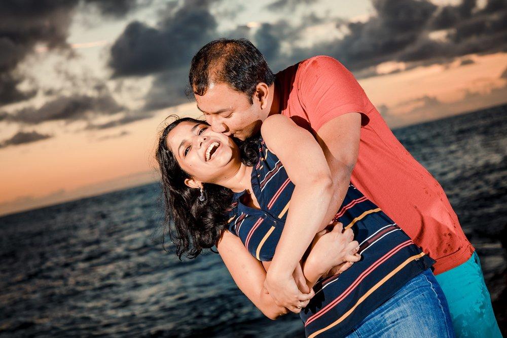 sunset engagement portrait ko olina oahu