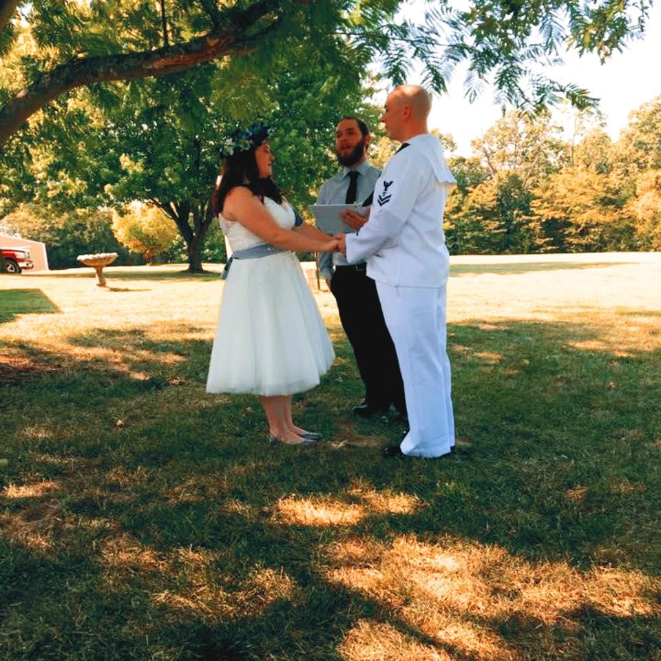 "One of Grace's ""bad"" wedding ceremony photos"